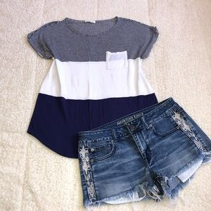 Tops - Color block Tshirt